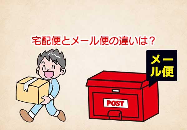 荷物を運ぶ人とポストメール便